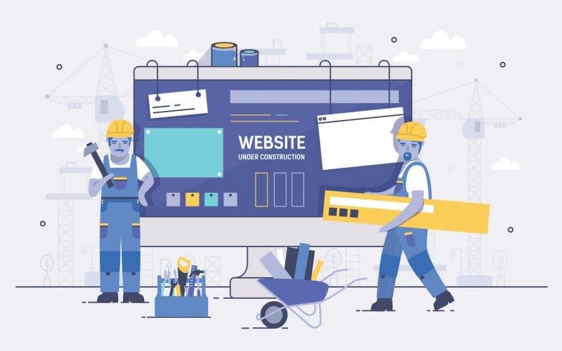 constructie website